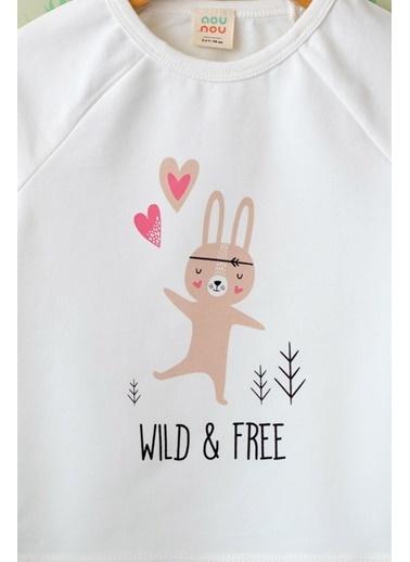 Nou Nou Wild&Free Mevsimlik Sweatshirt Ekru